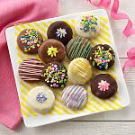 Spring Belgian Chocolate-Covered Nibblers Cookies