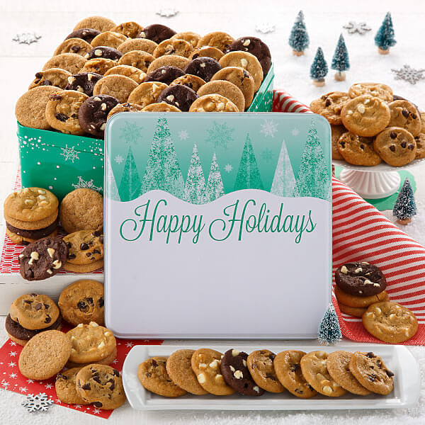 Holiday Trees 90 Nibblers Tin