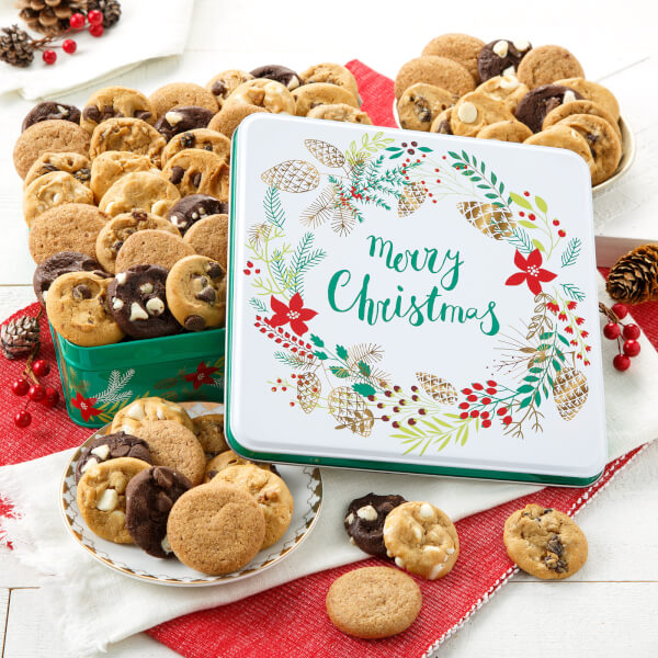 Merry Christmas 60 Nibblers Nut-Free Tin