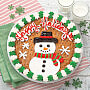 Snowman Cookie Cake