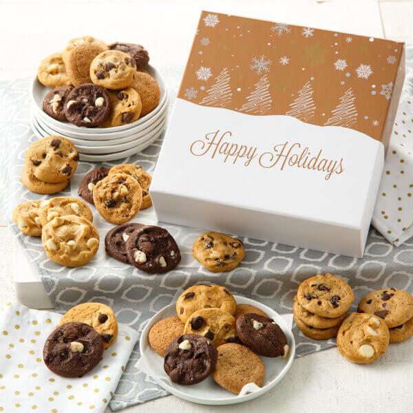 Winter Wonderland 36 Nibbler Bite-Sized Cookies Box