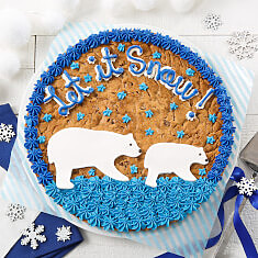 Let it Snow Cookie Cake