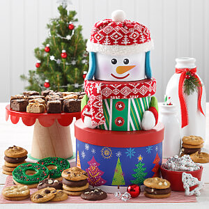 Traditional Snowman Cookie Tower - Traditional Snowman Cookie Tower