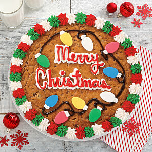 Holiday Lights Cookie Cake
