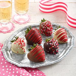 Full Half Love Dozen Belgian Chocolate Strawberries