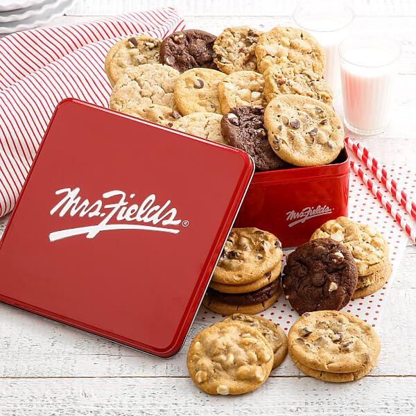 Mrs Fields Two Full Dozen Signature Cookie Tin