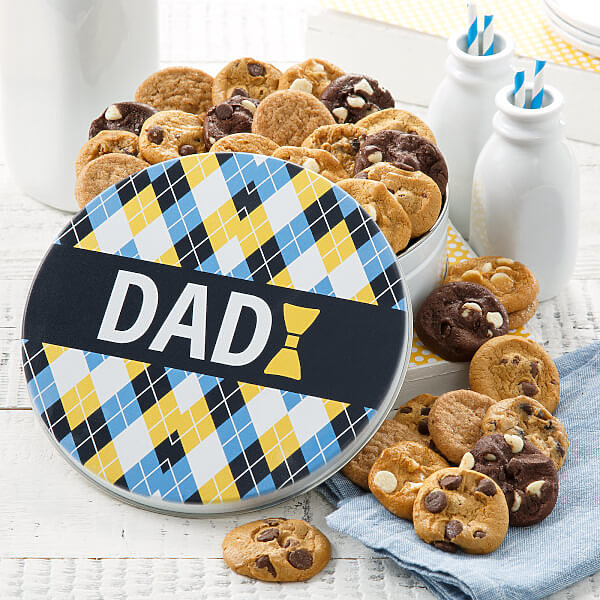 Plaid For Dad 30 Nibbler Tin