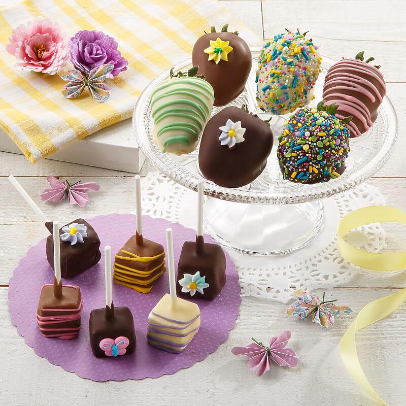 Belgian Chocolate Berries  Mini Cheesecake Pop