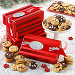 24 Nibblers Bite-Sized Cookies Red Striped Box Case of 20
