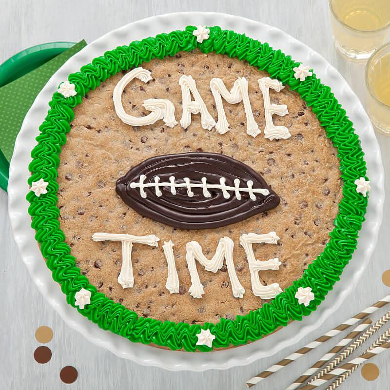 Game Time Football Cookie Cake football
