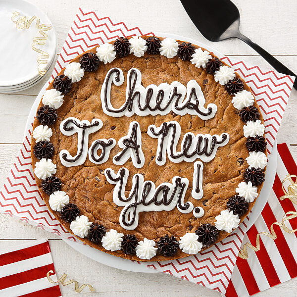 Cheers To A New Year Cookie Cake