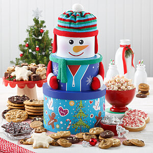 Abundant Snowman Cookie Tower - Abundant Snowman Cookie Tower