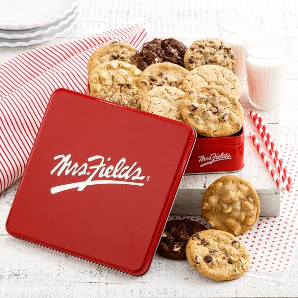 Mrs Fields Full Dozen Signature Cookie Tin