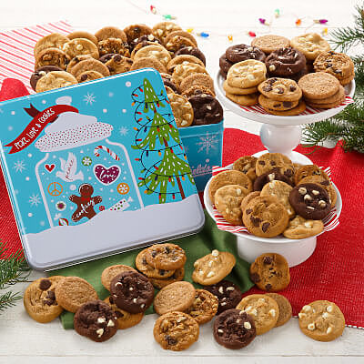Peace Love  Cookies 90 Nibblers Tin Nut-Free