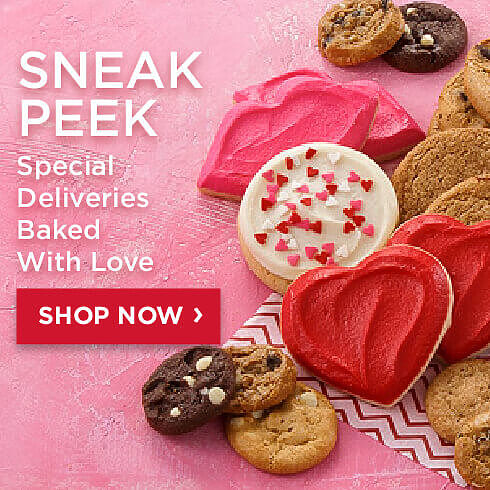 Sneak Peek. Special Deliveries Baked with Love. Shop Now.