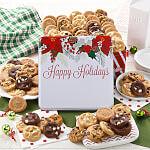 Custom Happy Holidays Poinsettia 90 Nibblers Tin