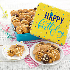 Happy Birthday 60 Nibblers Tin