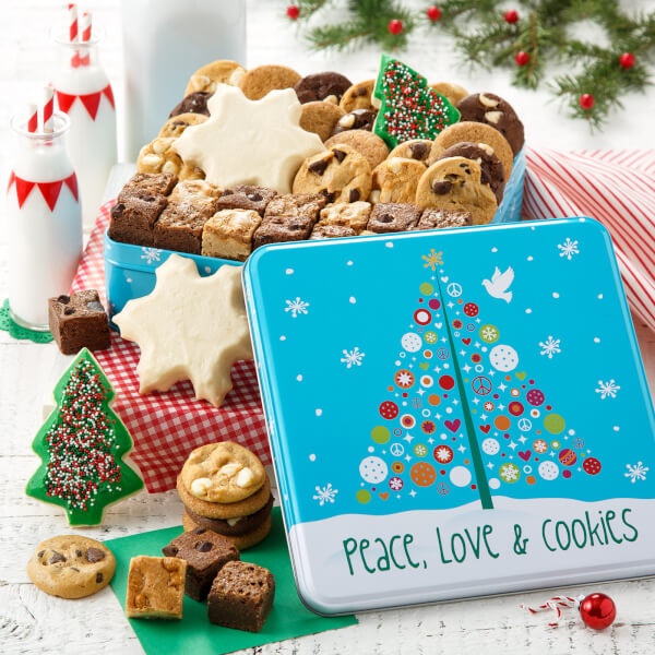 Peace Love  Cookies Medium Combo Tin