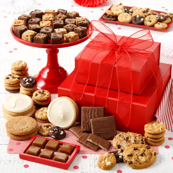 Personal Crimson Cookie Tower Nut-Free