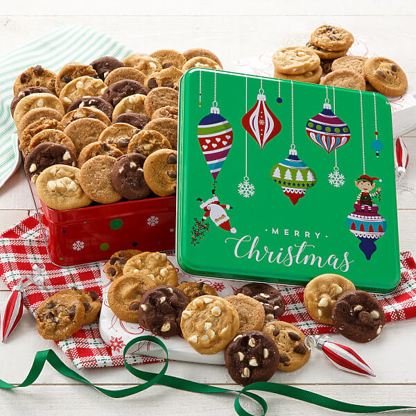 Merry Christmas 60 Nibblers Tin