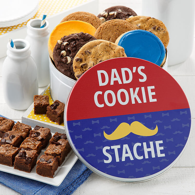 FATHERS DAY COOKIE STACHE COMBO TIN