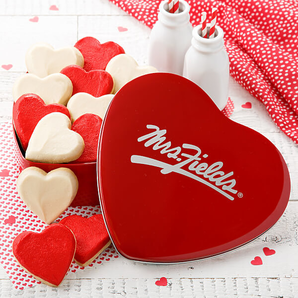 Classic Frosted Heart Cookies Tin