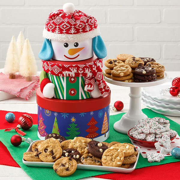 Traditional Snowman Nibbler Tower