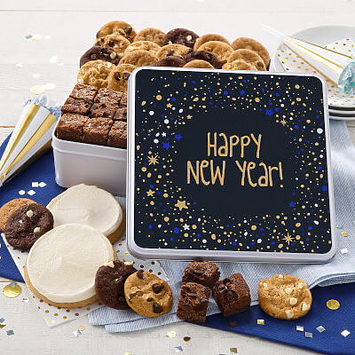 Happy New Year Cookie Tin