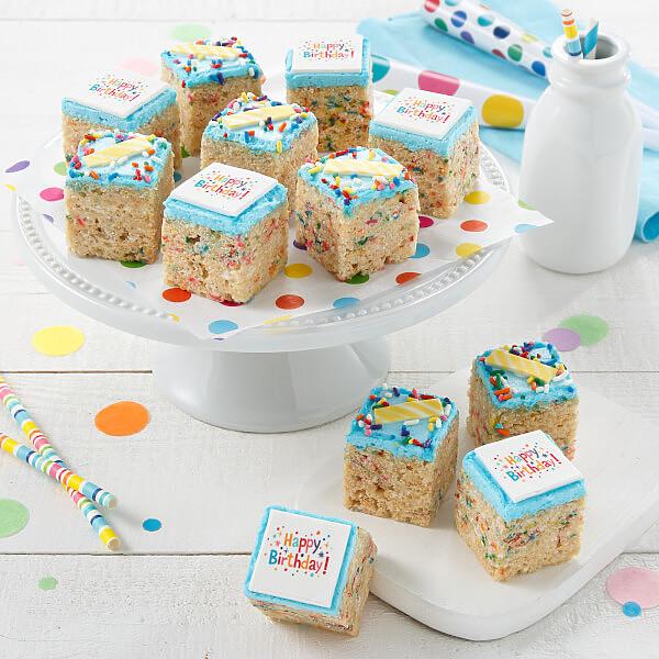 Birthday Rice Krispie Mini Gift Box