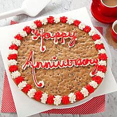 Happy Anniversary Cookie Cake