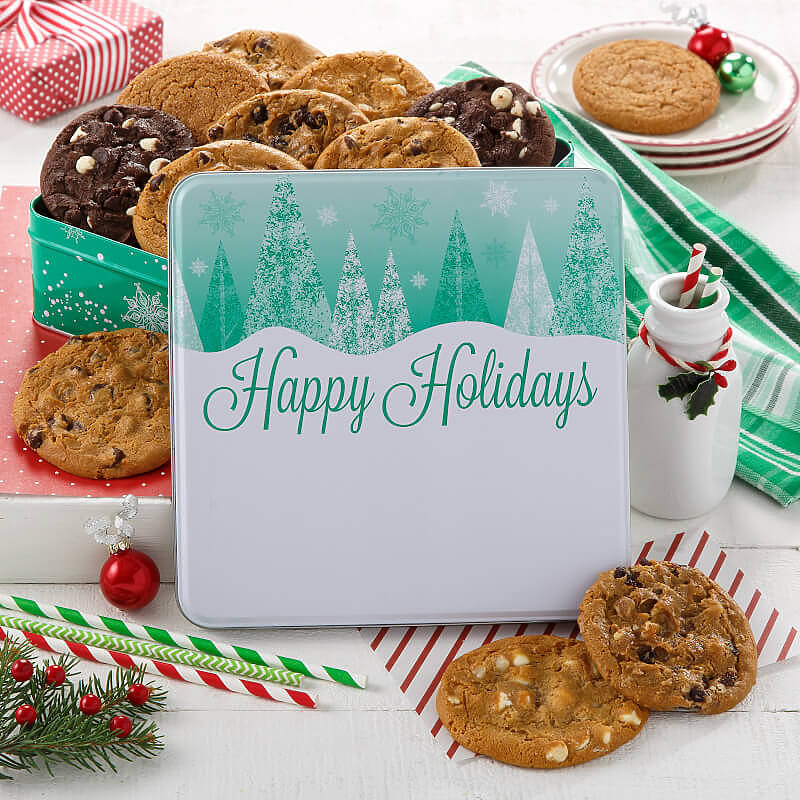 Holiday Trees 12 Cookie Sampler Tin