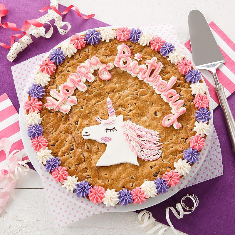 Happy Birthday Unicorn Cookie Cake
