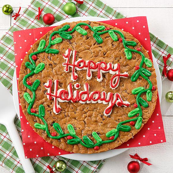 Deck the Halls Cookie Cake