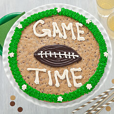 Game Time Football Cookie Cake