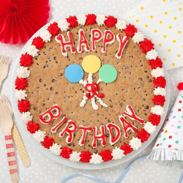 Peachy Happy Birthday Cookie Cake Mrs Fields Funny Birthday Cards Online Eattedamsfinfo