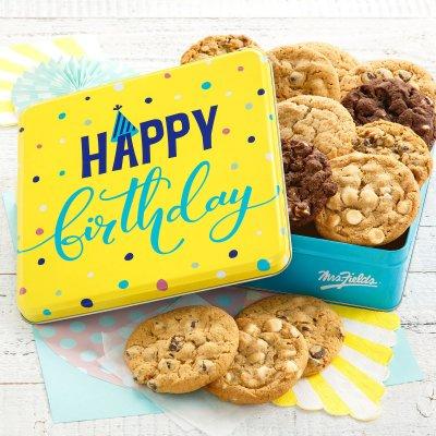 Happy Birthday 12 Signature Cookie Tin