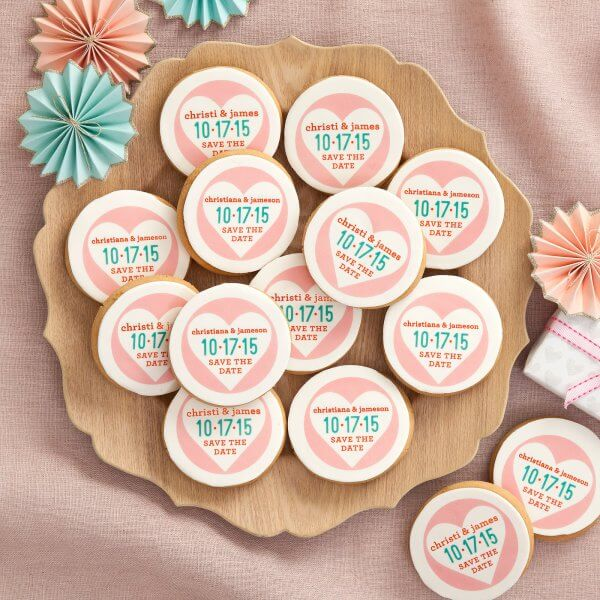 Save the Date Logo Cookie