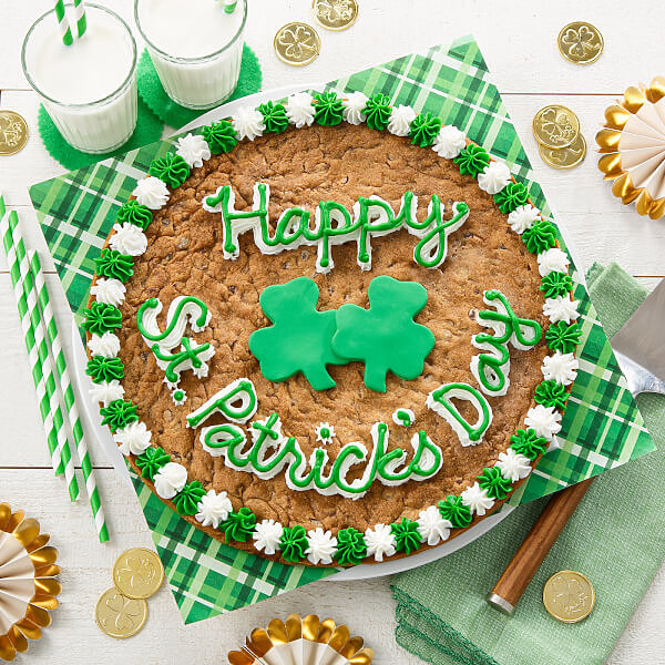 Happy St. Patrick's Day Cookie Cake