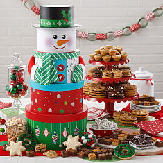 Ultimate Snowman Cookie Tower