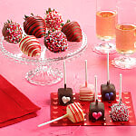 Valentines Day Belgian Chocolate Berries  Mini Cheesecake Pop