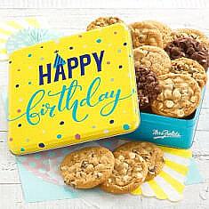 Happy Birthday Cookie Tin