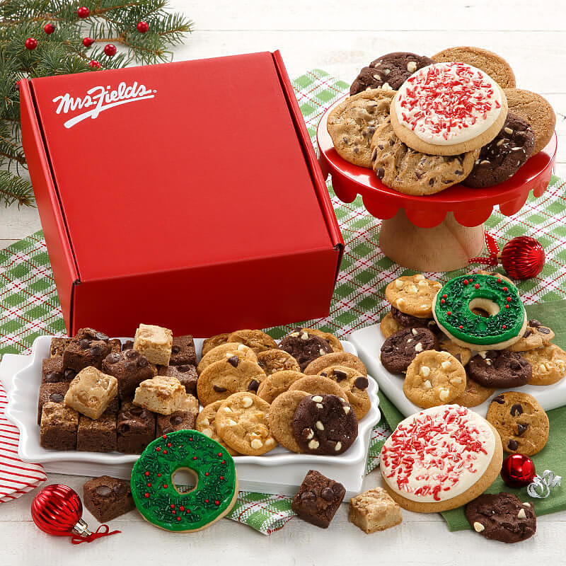 Mrs Fields Holiday Cookie Box
