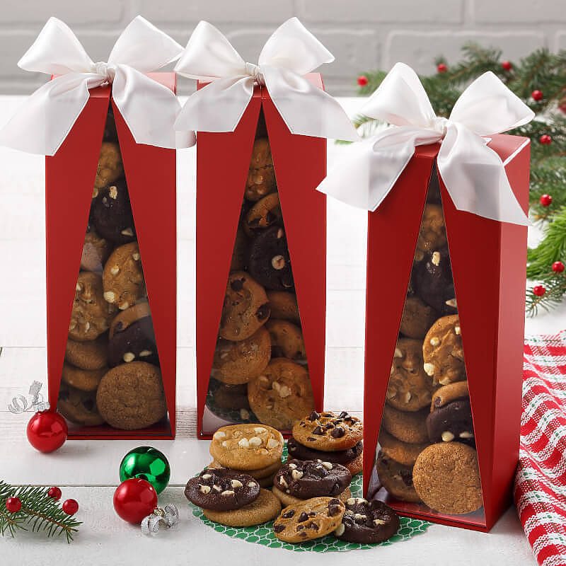 Red Christmas Tree Nibbler Box Case of 5
