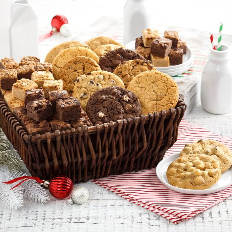 12 Original Cookies  72 Brownie Bites Basket
