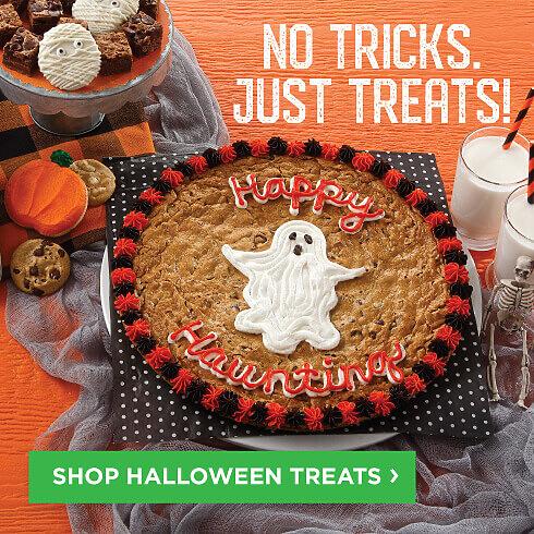 No Tricks. Just Treats. Halloween Cookie Treats just arrived! Shop Now.