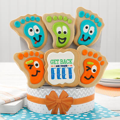 Get Back on Your Feet 6 Cookie Bouquet