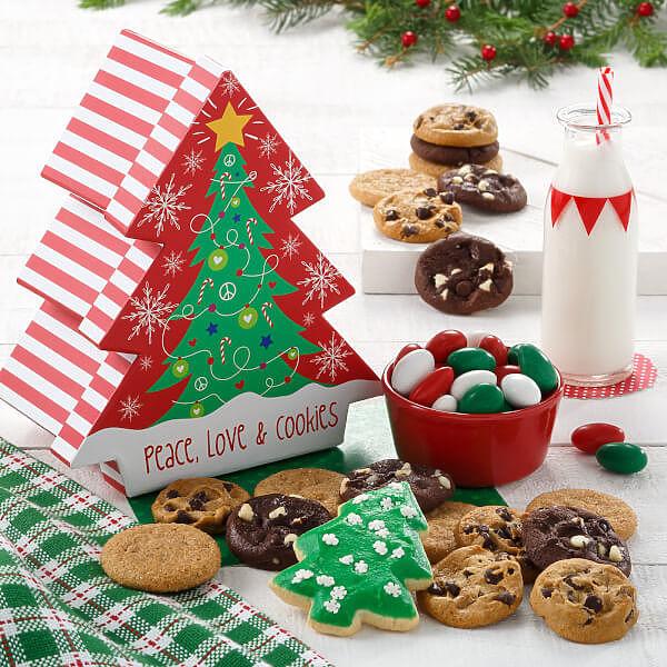 Peace Love & Cookies Tree Box