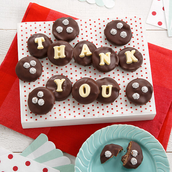 Thank You Belgian Chocolate Nibblers Cookie Grams