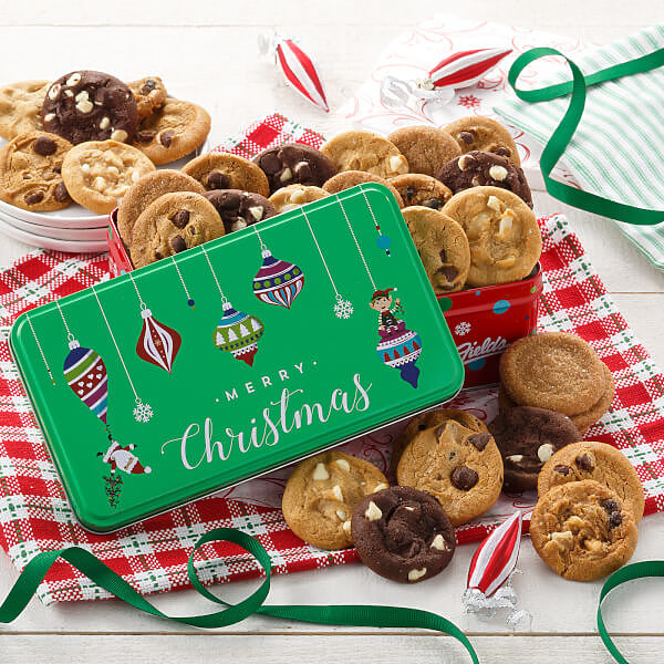 Merry Christmas 30 Nibblers Tin Nut-Free