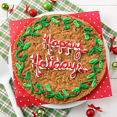 Holiday Wreath Cookie Cake